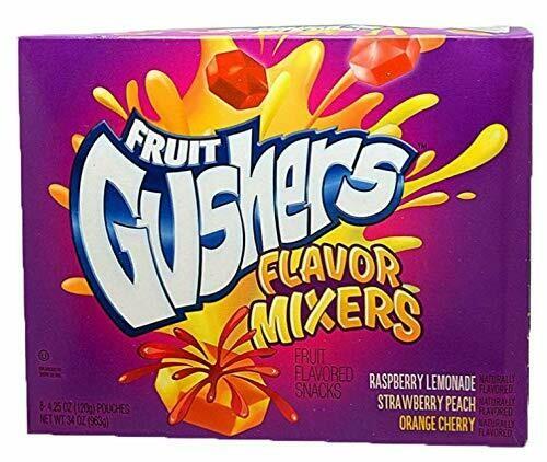 * Fruit Gushers Flavor Mixers (Strawberry Peach, Orange Cherry, Raspberry Lemonade) 42 Count