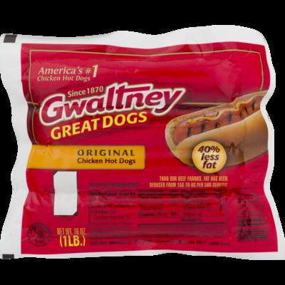 * Gwaltney Chicken Franks 8-1 (2 Ounces Each) 1 Pound