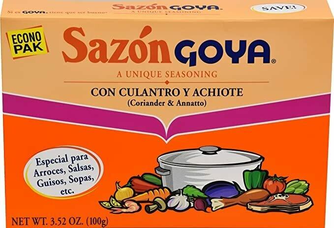 * Goya Culantro & Achiote Sazon 3.5 Ounces Box