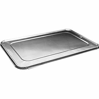 * Handi-Foil Full Size Aluminum Steam Pan Lid 10 Count