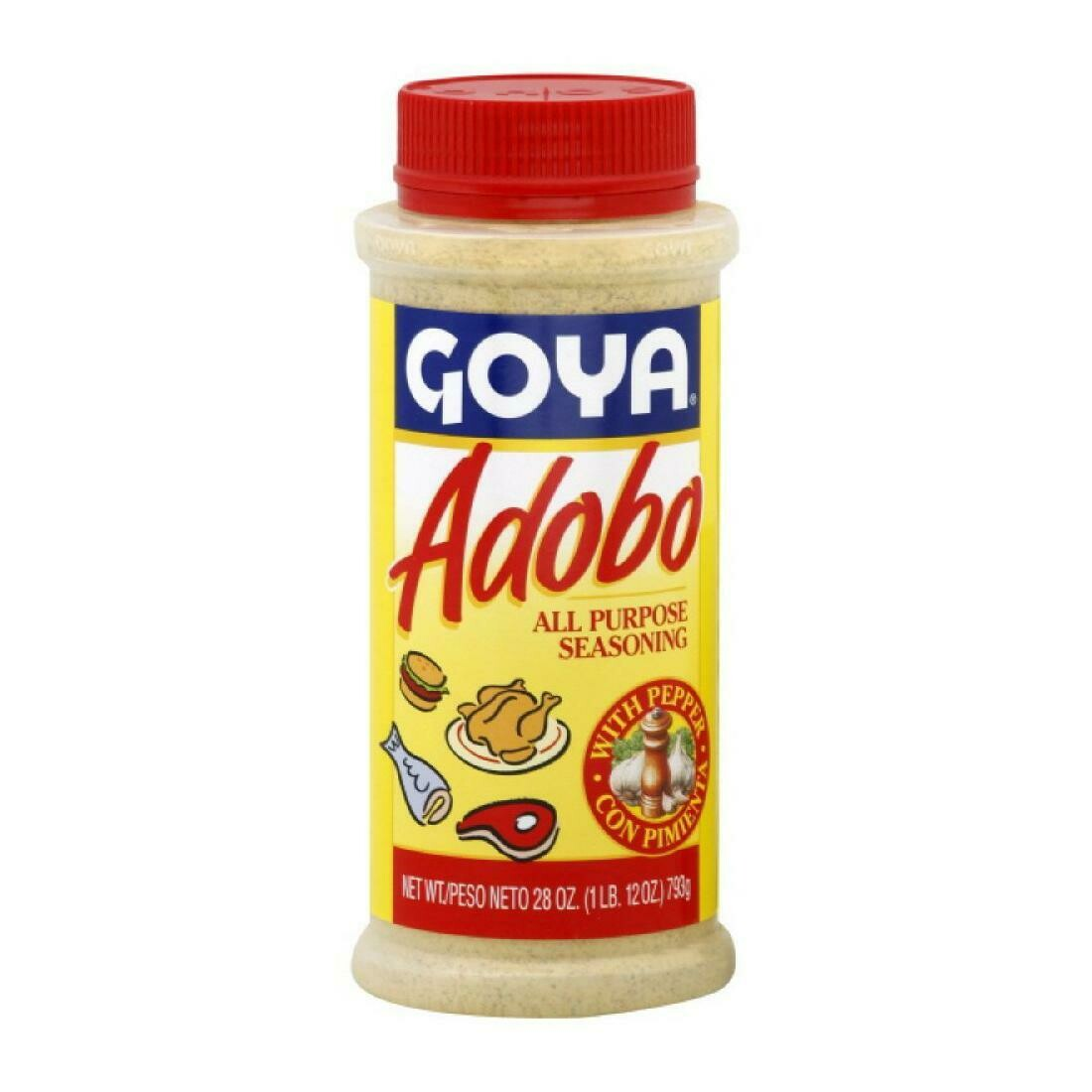 * Goya Adobo With Pepper 28 Ounces Jar