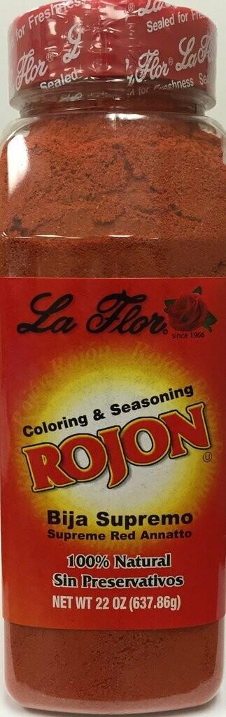 * La Flor Spices Rojon (Bija Supremo Or Supreme Red Annatto) 22 Ounces