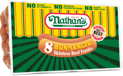 * Nathan's Famous Skinless Beef Franks 5 Pounds