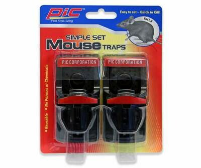 * PIC Simple Set Mouse Trap 2 Pack
