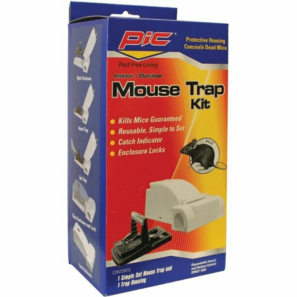 * PIC Mouse Housing Kit 3 Pk W/Reusable Refill Traps