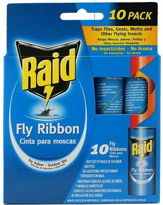 * Raid Fly Ribbon Bug & Insect Catcher 10 Pack