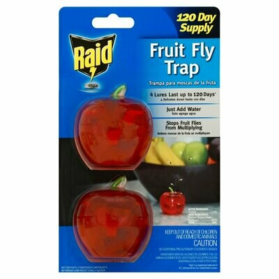 * Raid Fruit Fly Apple Trap 2 Count