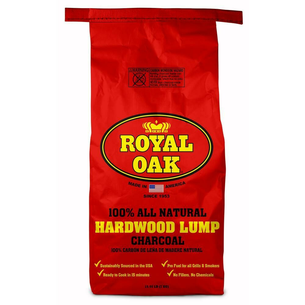 * Royal Natural Lump Charcoal 15 Pounds