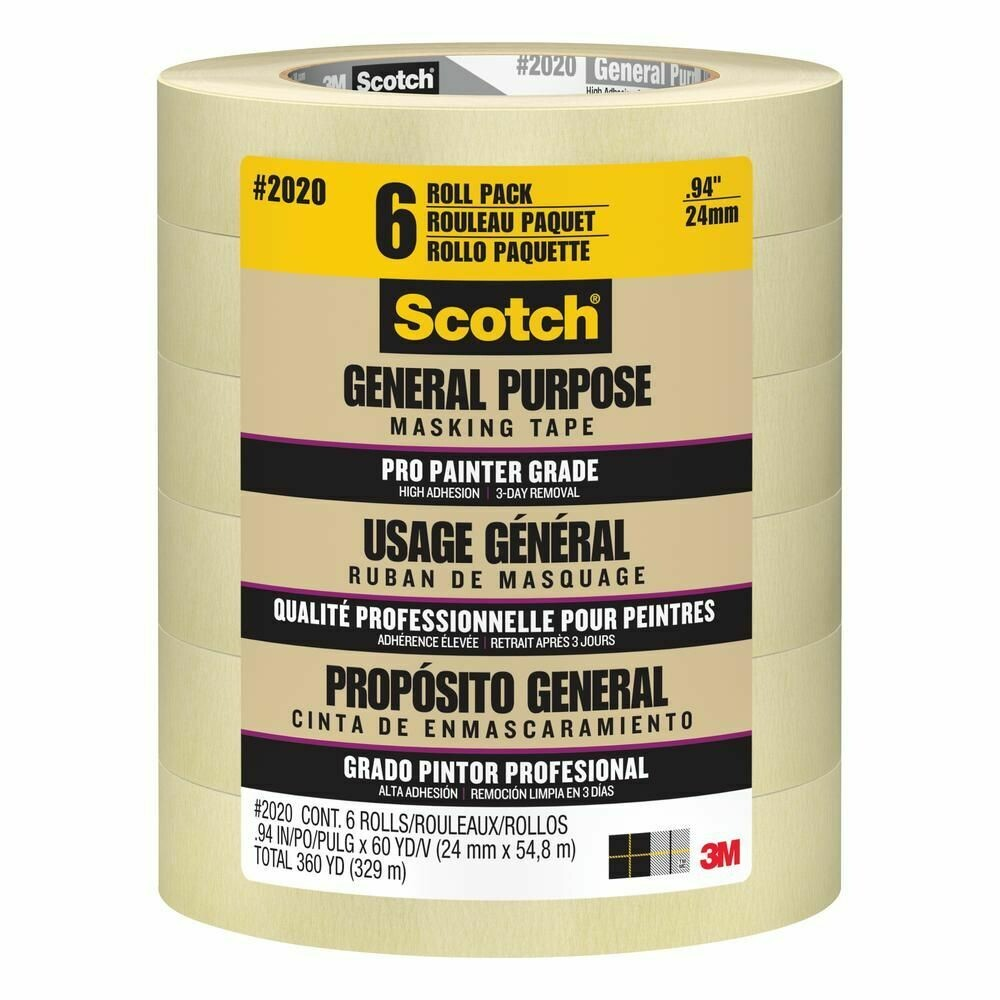* Scotch Brand Masking Tape 6 Pack