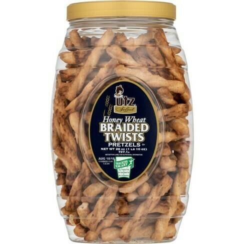 * Utz Honey Wheat Pretzels Braided Twists 28 Ounces