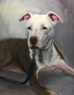 Pet Custom Oil Portrait Painting 16x20 inch from