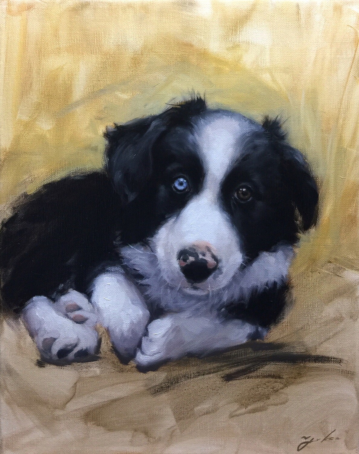 Pet Custom Oil Portrait Painting 8x10 inch from