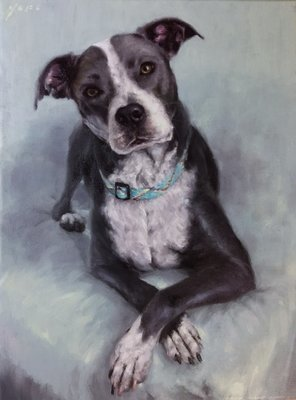 Pet Custom Oil Portrait Painting 12x16 inch from
