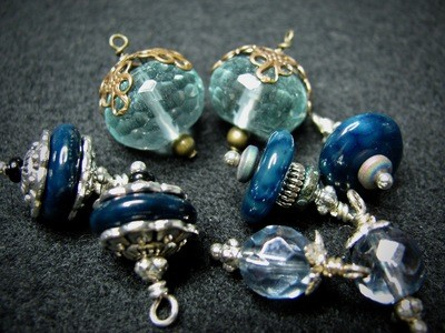 Blue Stone and Glass Beads