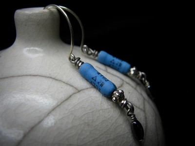 Blue Resistor Earrings