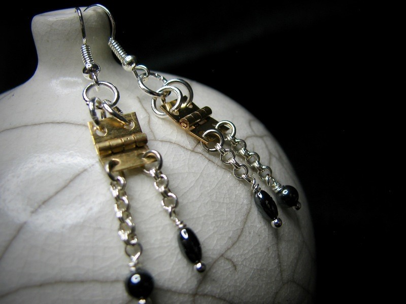 Brass Hinge Earrings