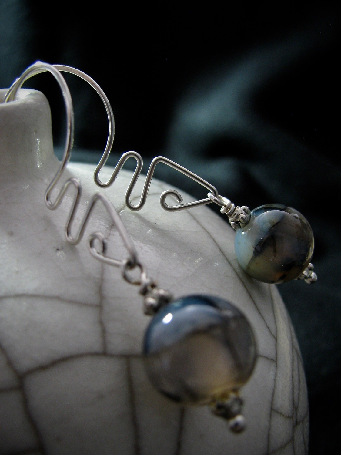 Interchangeable Earrings with Curves