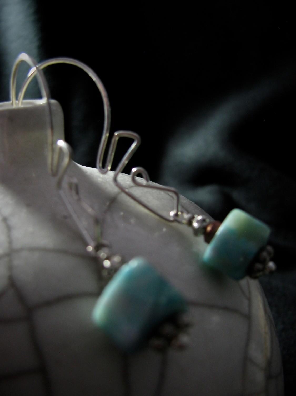 Sterling Silver Angle Earrings—Interchangeable