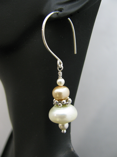 Pearl Beads and Sterling Silver Earwire