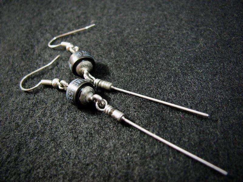 Black Diode Earrings
