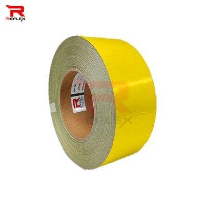 สติ๊กเกอร์สะท้อนแสงผิวเรียบ รีเฟล็กซ์ สีเหลือง