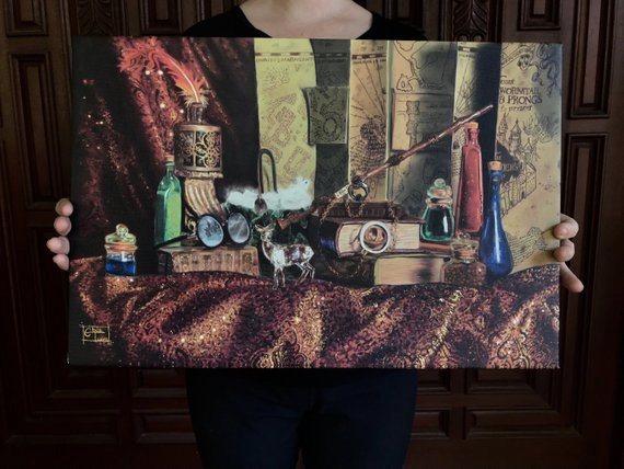 Harry Potter Still Life - Canvas Print