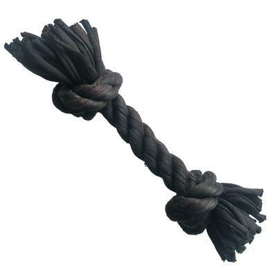 Duvo Sweater touw met 2 knopen zwart 20cm
