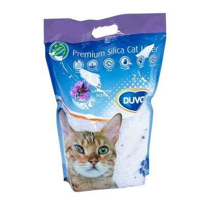 Duvo Premium Silica kattenbakvulling lavendel