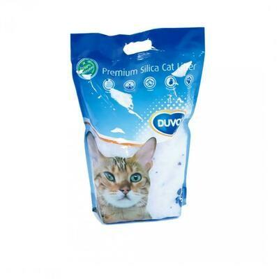 Duvo Premium silica kattenbakvulling 16l