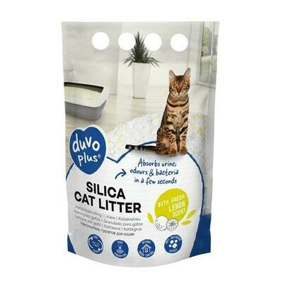 Duvo Premium silica kattenbakvulling citroen