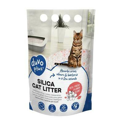 Duvo Premium Silica kattenbakvulling bloemen