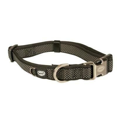 Duvo Halsband Nylon 30-45cm/15mm zwart
