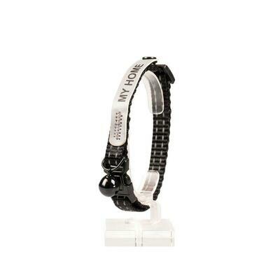 Kattenhalsband reflecterend 20-30cm / 10mm zwart