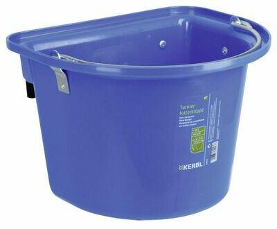 Wedstrijd voerbak blauw met ophangbeugel + draaggreep 12L