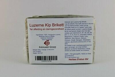 Luzerne kip Brikett er afleiding en darmgezondheid