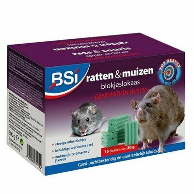 Blokjeslokaas voor ratten en muizen