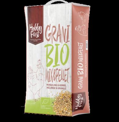 Farm Bio Mix & pellet - graanmengeling met extra lijnzaad