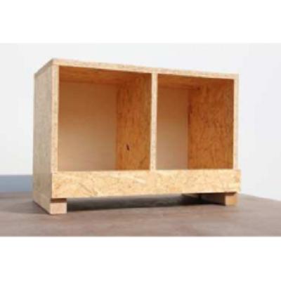 houten legnest  OSB dubbel