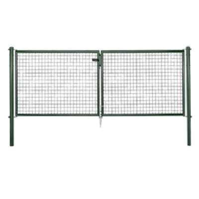 Metalen tuinpoort groen 3 m x 1 m H