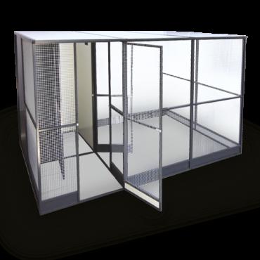 Luxe Aluminium voliére met nachthok en sas