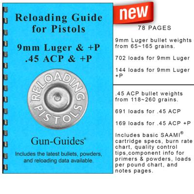 Reloading Guide - Pistols Gun-Guides® - NEW 2019!
