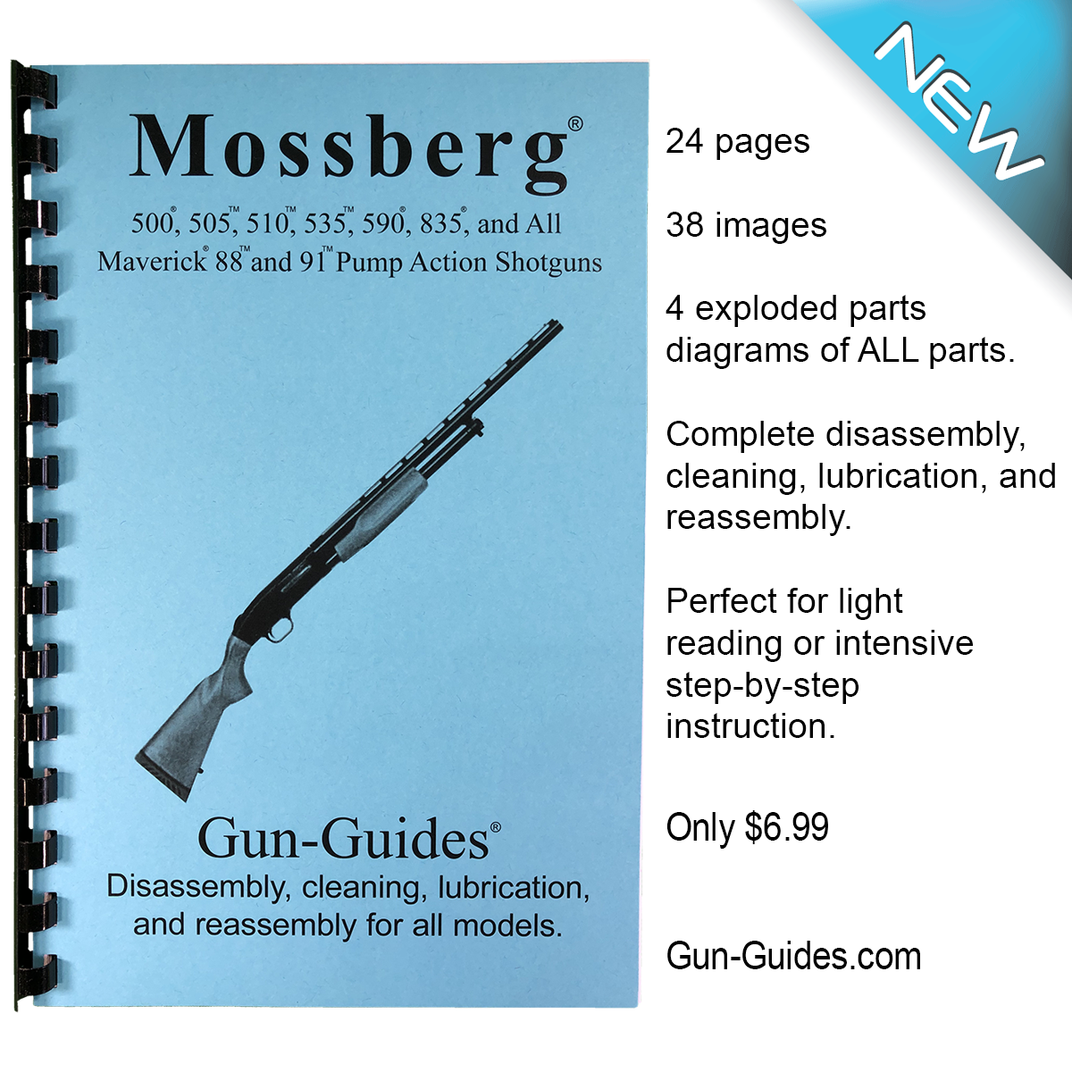 Mossberg Pump Action Shotguns Gun-Guides® Disassembly & Reassembly for All Models
