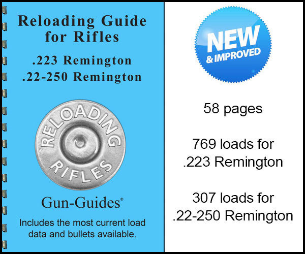 Reloading Guide Rifles - .223 Remington and 22-250 Remington - NEW 2017 Gun-Guides®