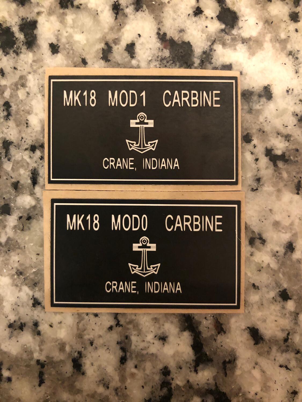"""Mk18 Crane Logo 1.73""""w X 1""""h"""