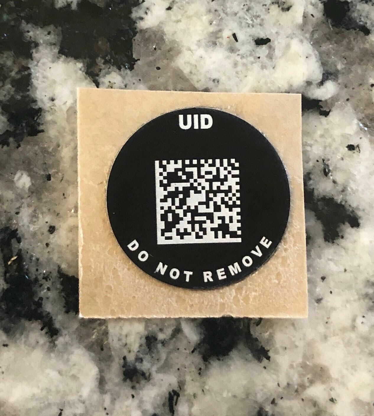 """Small Round UID (0.6"""" Round UID)"""