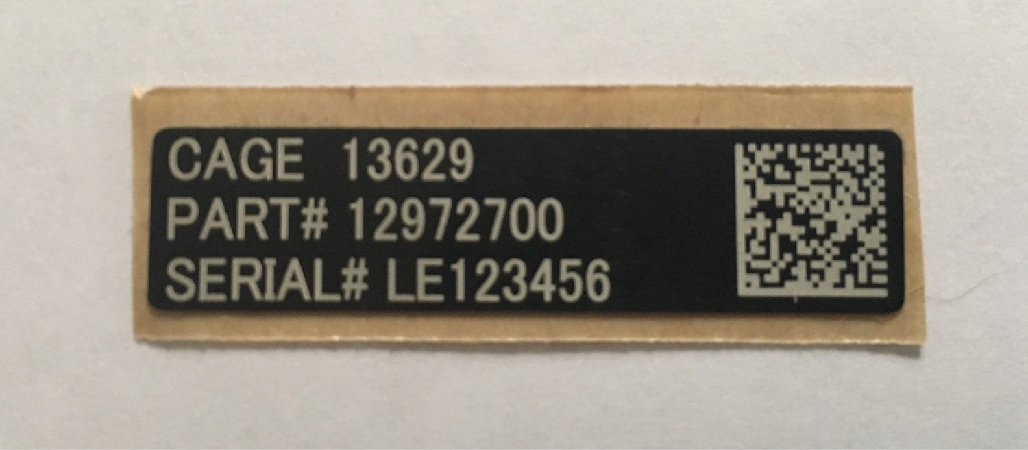 "Custom UID tag for M4 Carbine & M16 1.75"" x 0.45"""