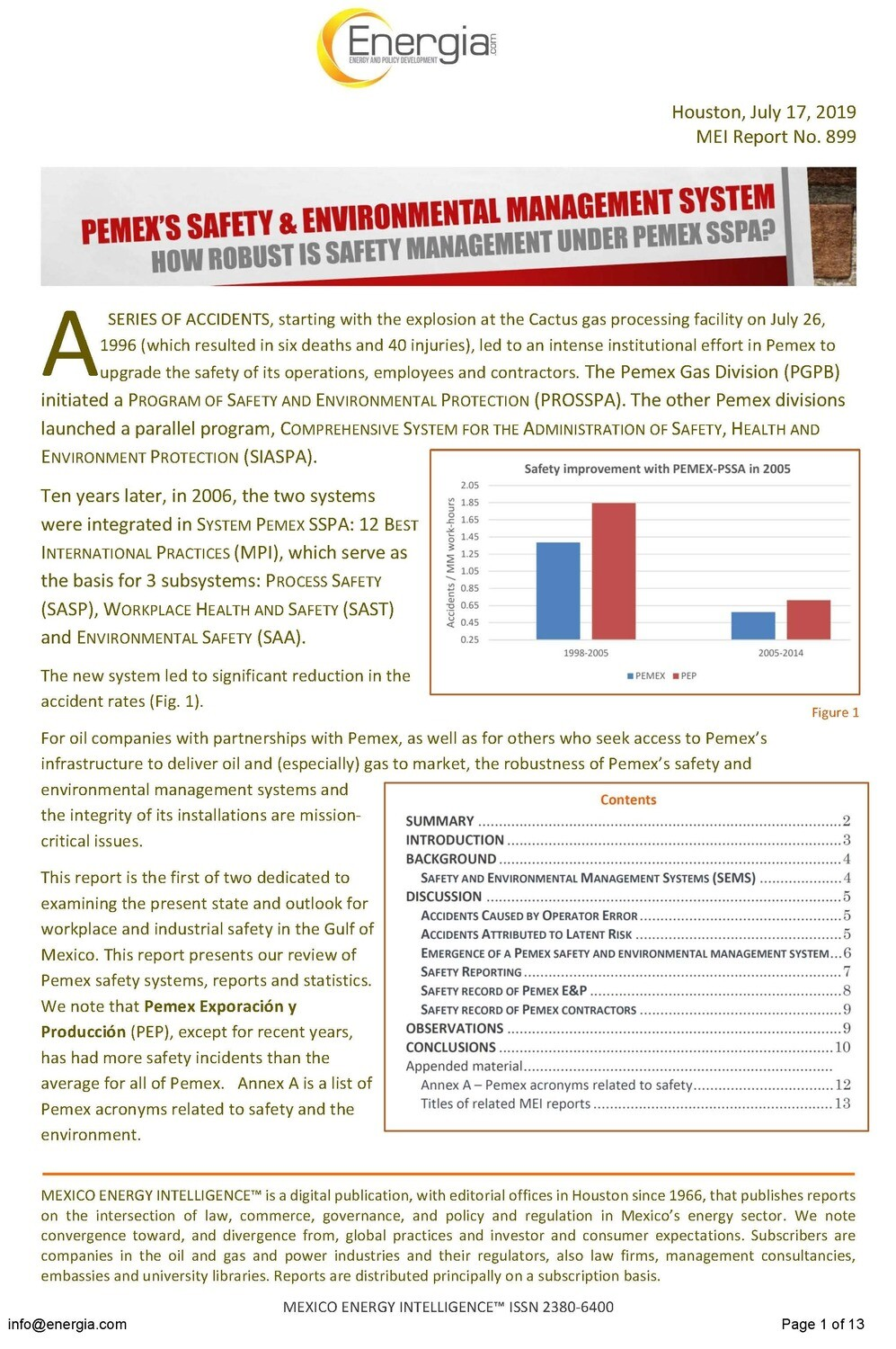 Pemex's Safety and Environmental System (SEMS): How robust?