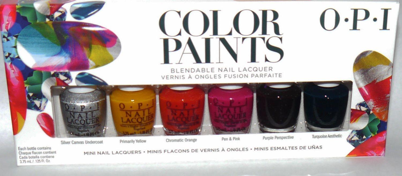 6 Colors OPI COLOR PAINTS Blendable Mini Nail Lacquer Polish Set .125 oz Each