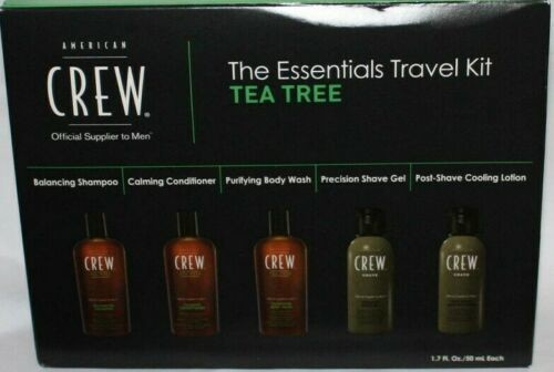 AMERICAN CREW The Essentials Travel Kit For Hair, Face & Body With TEA TREE