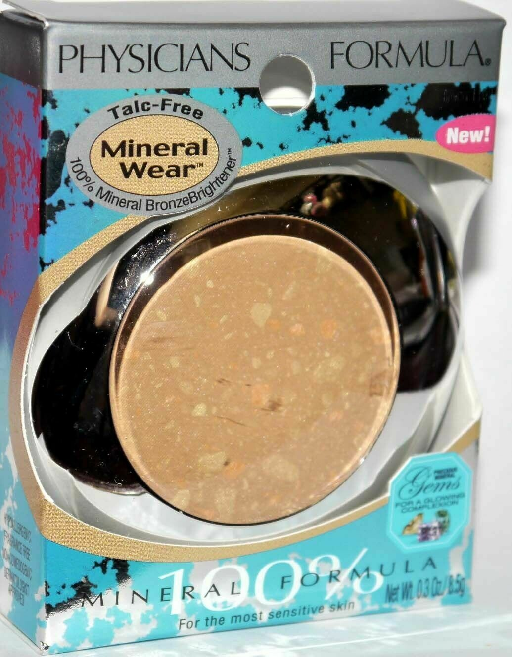 Physicians Formula Bronze Brightener Talc-Free Mineral Wear #1102 BRONZER .3 oz